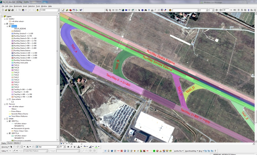 Sezioni Omogenee per il calcolo del Pavement Condition Index